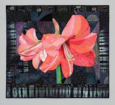 Amaryllis quilt, Ruth B. McDowell, at The Quilters Hall of Fame