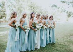 Blue Bridal Party #parkwinters Blue Bridal, Bridesmaid Dresses, Wedding Dresses, Parties, Beautiful, Fashion, Bridesmade Dresses, Bride Dresses, Fiestas