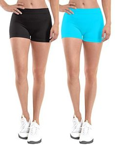 Join the Simlu Fashion Club These Bicycle Shorts for Women symbolize style and fashionable chic. The fitted look has a slimming effect. Composed of 90% Nylon, 10% Spandex for durable and comfortable wear; these womens short shorts are super stylish and come in a variety of colors to choose from....