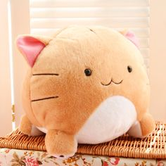 Neko kitty cat plush creamy orange