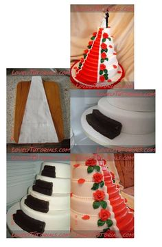 How to carve Stairs Wedding Cake http://www.lovelytutorials.com/forum/showthread.php?t=3925