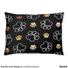 Outdoor Dog Bed, Dog Design, Print Design, Pet Puppy, Dog Paws, Pet Gifts, Decorative Throw Pillows, Pets, Dog Pillows