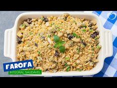 Receita de farofa 100% integral, cheia de fibras e proteica! Cheia de sabor ela está liberada na DIETA! Receita escrita aqui: http://blogdamimis.com.br/