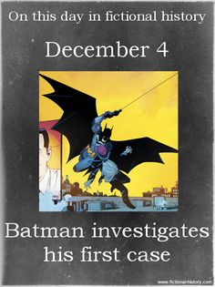 """Batman investigates his first case."" (Source)"
