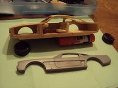 Image result for mustang pinewood derby car