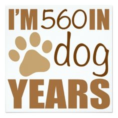 #80th Birthday Dog Years Card - #birthdayinvitation #birthday #party #invitation #cool #parties #invitations