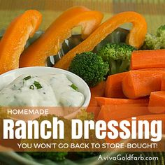 Homemade Ranch Dressing Recipe - so easy, fresh tasting and kid-approved. And doesn't contain MSG and all the other icky additives in Hidden Valley Ranch. Healthy Eating Recipes, Healthy Cooking, Whole Food Recipes, Healthy Snacks, Cooking Recipes, Healthy Life, Sugar Free Eating, Sugar Free Diet, Sugar Free Recipes