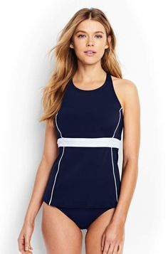 be0f705db7b Solid Navy Women's Tankini from Lands'end. #affiliate #shopstyle #swimsuit