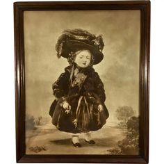 Queen Victoria Aged 4 Antique Mezzotint Print of Stephen Denning Portrait Painting