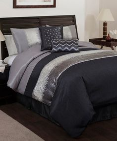 Gray & Black Night Sky Comforter Set #comforter $89.99 http://www.zulily.com/invite/jzabrowski188
