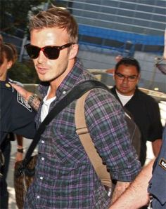 David Beckham wearing a pair of Ray-Ban Original Wayfarer 2140 in case you are wondering.  Image from http://famewatcher.com/category/ray-ban-sunglasses    To get the Becks look go to http://www.sunglassesuk.com/rayban-rb-2140-sunglasses.html