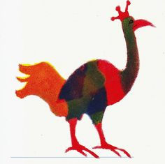 Beeldende verbeelding sjabloon druk  paradijs vogel