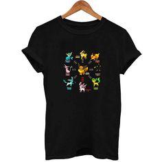 Pokemon Eevee Evolution T Shirt Size XS,S,M,L,XL,2XL,3XL