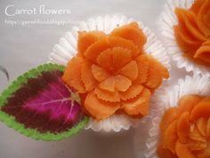 fruit and vegetable  flora arrangements | miniature carrot flowers carrot flowers are good for salad garnishing ...