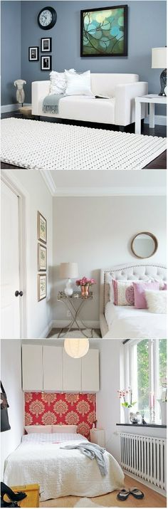 A small bedroom can appear cramped up and disorganized even when it is not. The trick is in making it appear larger than it is. Here are a few ways to make a small bedroom appear bigger than it is;  Small bedroom  Use plenty of mirrors if you want to make the bedroom look bigger than it actually...