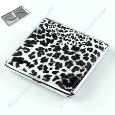 Leopard Pattern Pocket Leather Cigarette(20 pcs) Tobacco Case Box Holder BW-F1FB