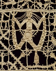 Furnishing Border  Cutwork reticella needle lace worked in linen thread, bobbin lace 17th century Greece (made) Date:18th century-19th century (made)