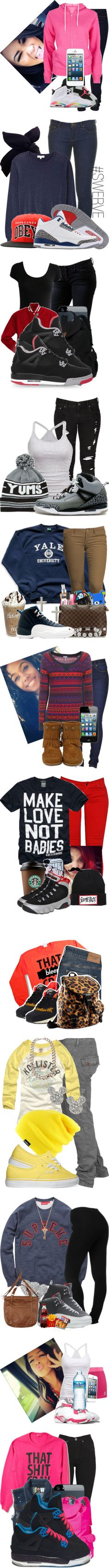 """Jordans Is my Everything"" by fashionsetstyler ❤ liked on Polyvore"