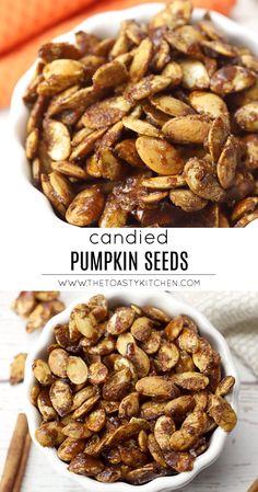 Easy Pumpkin Seeds, Roasted Pumpkin Seeds, Roast Pumpkin, Cinnamon Sugar Pumpkin Seeds, Pumkin Seeds, Pumpkin Pumpkin, Pumpkin Carving, Appetizer Recipes, Snack Recipes