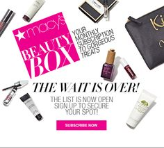The Macy's Beauty Box is FINALLY available to subscribe!   Macy's Beauty Box Available Now! →  http://hellosubscription.com/2017/06/macys-beauty-box-available-now/ #Beautyscene #Macy'SBeautyBox  #subscriptionbox
