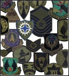 Military Surplus Patches -- 6 Assorted