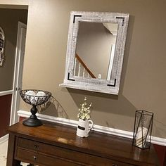Antique White Wood Framed Mirror All SIZES INCLUDE FRAME. Please read the item details to see the dimensions difference between the outside frame size and the inside mirror size. Rustic Bathrooms, Wood Bathroom, Bathroom Sets, White Bathroom, Rustic Mirrors, Wood Framed Mirror, Rustic Industrial, Modern Rustic, Rustic Farmhouse Decor