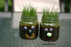 I had a Hairy a long time ago We used a paper cup and construction paper ears and face Hairy - Spring Gardening Craft for kids Craft Activities, Preschool Crafts, Kids Crafts, Nature Activities, Baby Jars, Baby Food Jars, Spring Crafts For Kids, Projects For Kids, Baby Food Jar Crafts