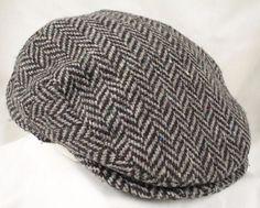 san francisco 6f9cd cbc7d VTG Hanna Hats Donegal Ireland Wool XXL Cabbie Newsboy Cap Hat Brown  Herringbone  HannaHats