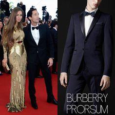 "Male Fashion Trends: Adrien Brody en Burberry Prorsum – ""Cleopatra"" Premiere at Cannes Film Festival #Cannes2013"