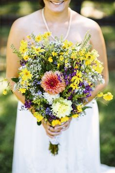 brightly colored wildflower bouquet