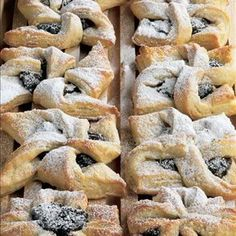 Joulutorttu are a Christmas treat in Finland - pastry windmill-shaped tarts with a prune jam filling.