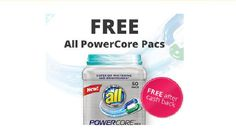 Get a Free 50 count of All PowerCore Pacs Super Concentrated Laundry Detergent from Walmart after cashback! Valid 3/8-3/13. New members only.