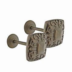 allen   roth 2-Pack Aged Bronze Curtain Holdbacks $12.97