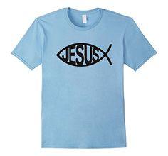 Jesus   Fish T-shirt - Male Small - Baby Blue ZaySa Desing T-shirt http://www.amazon.com/dp/B01BJYFH9E/ref=cm_sw_r_pi_dp_Ktf5wb1Z6H7MJ