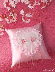 cherry-blossom ring pillow