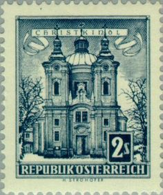 Znaczek: Church of Grace, Christkindl (Austria) (Buildings) Mi:AT 1049x,Sn:AT 625,Yt:AT 873A,ANK:AT 1102x,AFA:AT 945