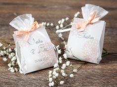 """Gastgeschenke - Hochzeitsgastgeschenk Motiv """"dalia"""" apricot - ein Designerstück von Formatreich-Hochzeitskarten bei DaWanda"""