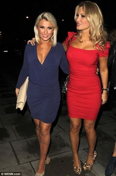 Sam Faiers supports former TOWIE co-star Amy Childs as she dons red dress from her collection for Christmas party Pretty Short Dresses, Lovely Dresses, Celebrity Outfits, Celebrity Style, Essex Girls, Amy Childs, Fashion Banner, Night Out Outfit, Sexy Skirt