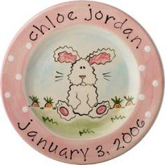 Cute bunny plate