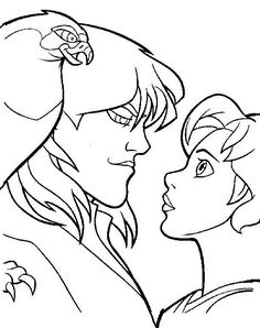The Magic Sword: Quest for Camelot Coloring pages for kids. Printable. Online Coloring. 4