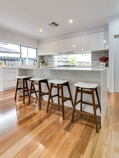 Spotted Gum flooring flows with beautiful tones, from blond through to deep chocolate, highlights of greys, rich reds and soft pink hues. Engineered Timber Flooring, Brick Flooring, Living Room Flooring, Bedroom Flooring, Wooden Flooring, Kitchen Flooring, Hardwood Floors, Home Decor Kitchen, Kitchen Design