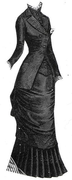1879 Woolen Travelling Dress Pattern