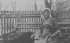 Анна Ахматова и Ольга Кузьмина-Караваева. Царское Cело, 1916 год Российский государственный архив литературы и искусства