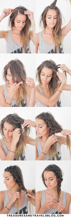 Hairstyles For Long Hair : Hair Tutorial Thick Summer Braid Braided Hairstyles Tutorials, Diy Hairstyles, Pretty Hairstyles, Wedding Hairstyles, College Hairstyles, Braid Hair Tutorials, Quick Easy Hairstyles, Hairstyles 2018, Hairstyle Ideas