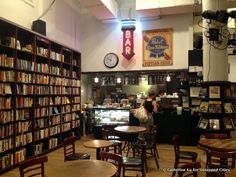 Housing Works Bookstore Café, 126 Crosby St. : You could spend days in this bookstore browsing the donated titles with breaks for caffeine (they brew Intelligentsia Coffee), baked goods, savories and even alcohol at the on-site café. The entire store is staffed by friendly volunteers, and all profits go to Housing Works, a nonprofit that fights homelessness and AIDS. The bookstore has an upper level with smaller tables to hide from the crowd. | Untapped Cities