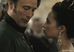 Mads Mikkelsen and Alicia Vikander in A Royal Affair