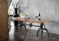 Industrial Tisch esstisch der industrial serie neben dem coolen industrie flair