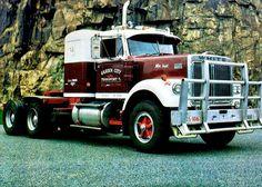 WHITE. ROAD-BOSS, Prime-Mover. Classic Tractor, Classic Trucks, Classic Cars, Cool Trucks, Big Trucks, Pickup Trucks, Western Star Trucks, Truck Transport, White Truck