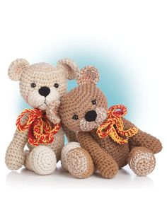 """Crochet bear design included in the crochet pattern book """"Animal Amigurumi to Crochet"""" available at Anniescatalog.com."""