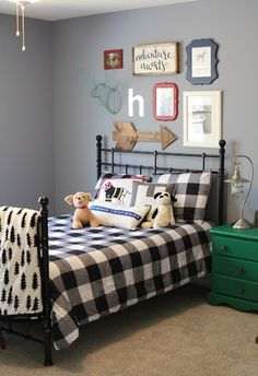 Girl in the Red Shoes put the finishing touch on her son's big boy room with a vivid green nightstand. Check out the matching dresser & get her tips on painting furniture with ease.